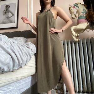 Army Green Loose Dress